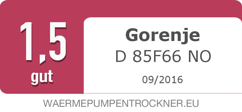 Testsiegel: Gorenje D 85F66 NO