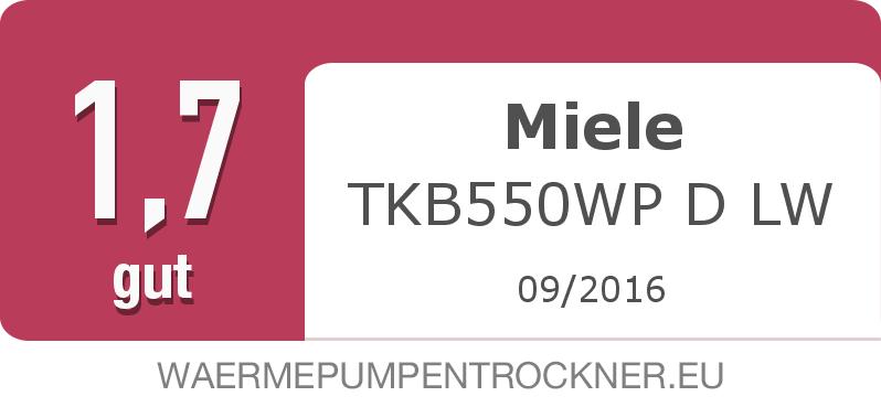 Testsiegel: Miele TKB550WP D LW width=