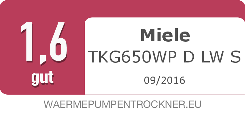 Testsiegel: Miele TKG650WP D LW S width=