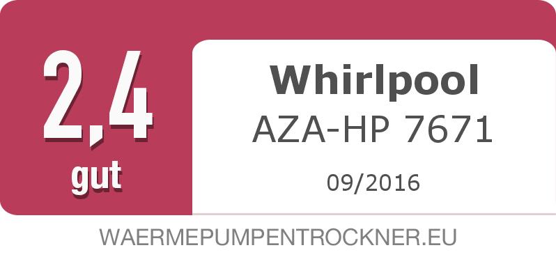 Testsiegel: Whirlpool AZA-HP 7671 width=